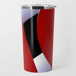 red white black -22- Travel Mug