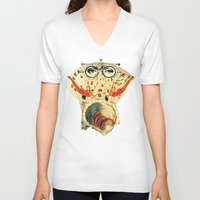 psychology V-neck T-shirts featuring Mystical uterus by Laura Nadeszhda