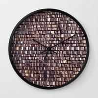 silver Wall Clocks featuring silver by Sylvia Cook Photography