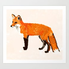 FOX: THE RED BANDIT Art Print