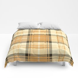 Gold Tartan Comforters