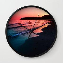 A bold Sunset Wall Clock