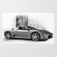 ferrari Area & Throw Rugs featuring Ferrari F430 by cjsphotos