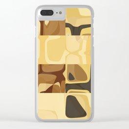 Mid Century Modern Pattern Geometric Art by Michel Keck Clear iPhone Case