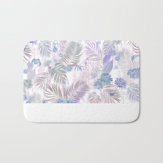 Tropical Iridescence- Pastels  Bath Mat