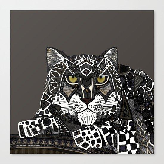 snow leopard lead Canvas Print
