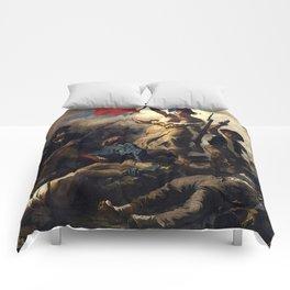 LIBERTY LEADING THE PEOPLE - EUGENE DELACROIX Comforters