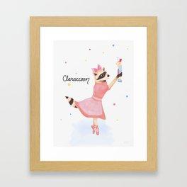 Claraccoon Framed Art Print