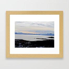 Solnedgang Framed Art Print