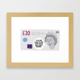 Money Talks Framed Art Print