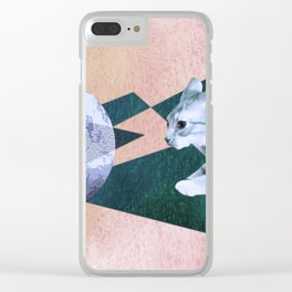 Orbital Cat Travel Clear iPhone Case