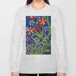 Cozy Felted Wool Flower Garden Long Sleeve T-shirt