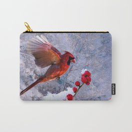 Red Birds of Christmas Carry-All Pouch