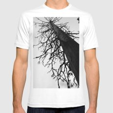 Dead of Winter White MEDIUM Mens Fitted Tee