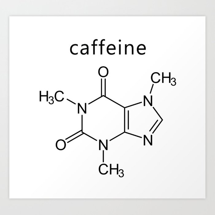 caffeine molecule formula Art Print