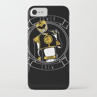 power ranger iPhone & iPod Cases featuring Power Crew White Ranger by zombieCraig by zombieCraig