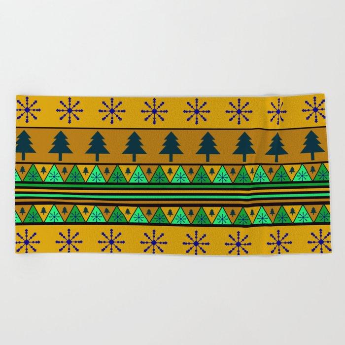 Christmas pattern Beach Towel