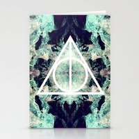 deathly hallows Stationery Cards featuring Deathly Hallows by Christine DeLong Creative Studio