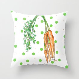 Crunch time! Throw Pillow