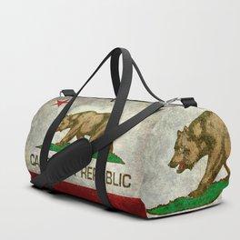 State flag of California in Grunge Duffle Bag