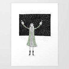 Eloise loves winter Art Print