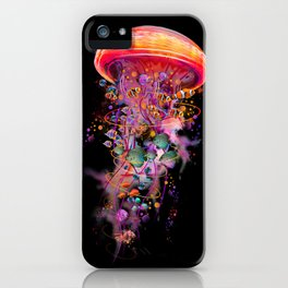Electric Jellyfish World Revisited 2018 iPhone Case