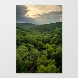 Table Rock Lake Sunset at Top of the Rock - Missouri Ozarks Canvas Print