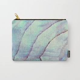 IRIDISCENT SEASHELL MINT by Monika Strigel Carry-All Pouch