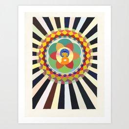 Lotus Sutra Buddha Art Print