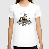 rowing T-shirts featuring Viking ship 2 by mangulica illustrations