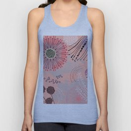 Magic coral flowers Unisex Tank Top