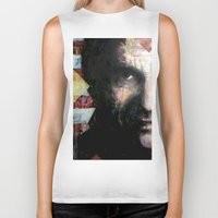 johnny cash Biker Tanks featuring Johnny Cash by Glen Ronald