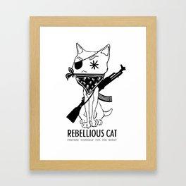 Rebellious Cat Framed Art Print