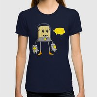 Space Toast Womens Fitted Tee Navy X-LARGE