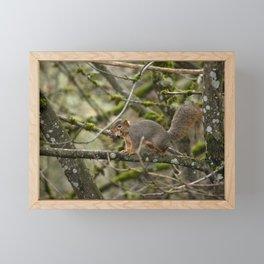 Leafy Mouthful Framed Mini Art Print