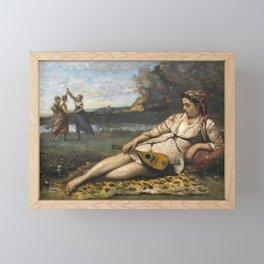 Jean-Baptiste-Camille Corot - Young Women of Sparta (Jeunes filles de Sparte) Framed Mini Art Print