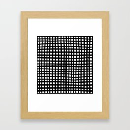 Ugly Grid in Black and White Framed Art Print