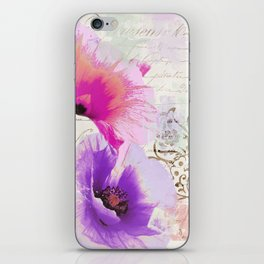 Poppies and Paint I iPhone Skin