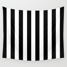 Parisian Black & White Stripes (vertical) Wall Tapestry