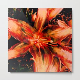 Garden Lily Metal Print