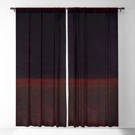 1960 Black on Dark Sienna On Purple by Mark Rothko HD Blackout Curtain