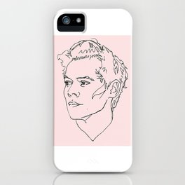 Harry Styles Drawing iPhone Case