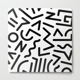 Featured Memphis Pattern (white) Metal Print