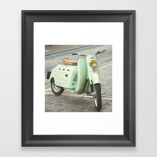 Mint Moto Framed Art Print