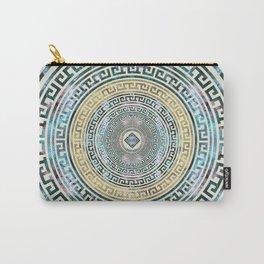 Circular Greek Meander Pattern - Greek Key Ornament Carry-All Pouch