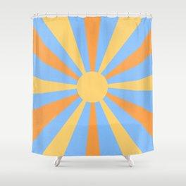 yellow and orange sunshine Shower Curtain