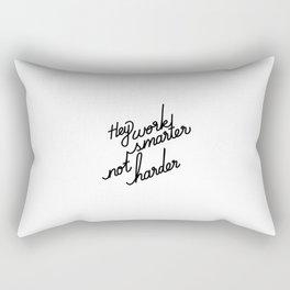 Hey work smarter not harder   [black] Rectangular Pillow