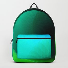 Blue surf geometric blue minimal Backpack