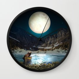 Somewhere You Are Looking At It Too II Wall Clock