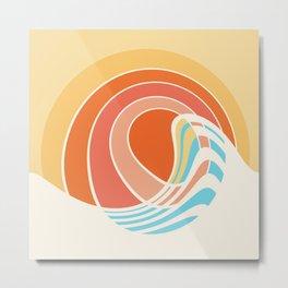 Sun Surf Metal Print